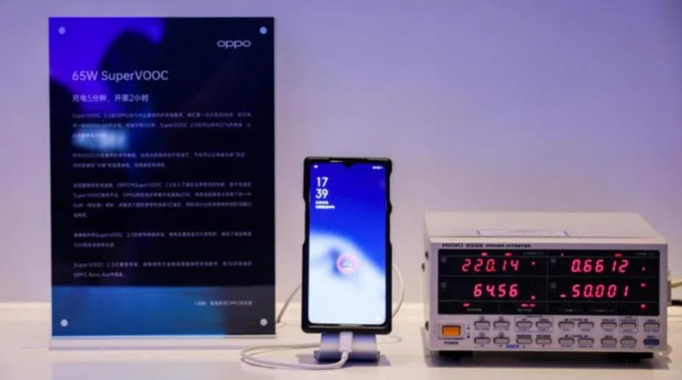 Oppo charge rapide Super Vooc 65W