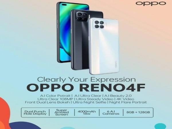 OPPO Reno 4F nouveau smartphone sortie